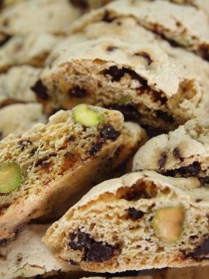 Biscotti, Chocolate Pistachio